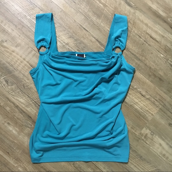 Wrapper Tops - Teal Tank by Wrapper